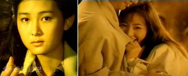 ▲ 초콜릿 광고의 채시라, 이미연/사진=유튜브 캡처