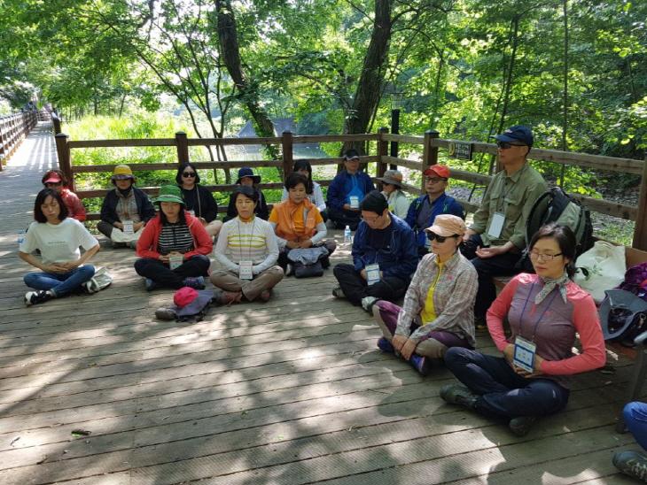 (사진1) 산림치유지도사 직무연수