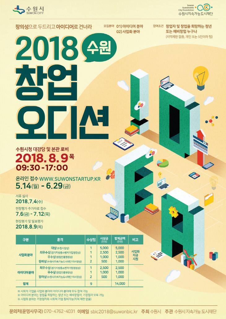 수원시, '2018 수원 창업 오디션' 참가자 모집