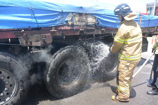 당진소방서, 화물차량 화재 안전진화