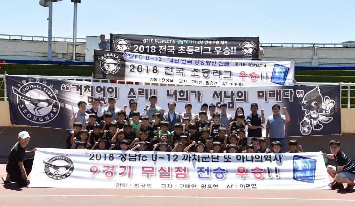 성남FC U12, 초등 주말리그 무실점 전승 우승