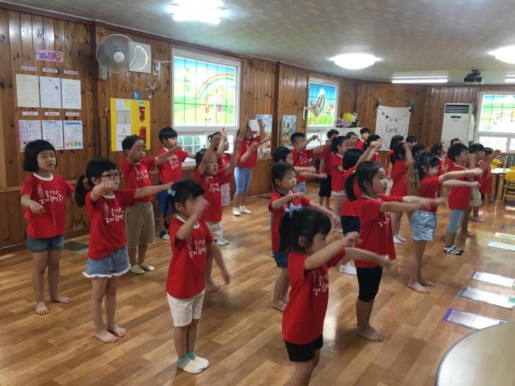 소방동요대회연습사진-덕산어린이집