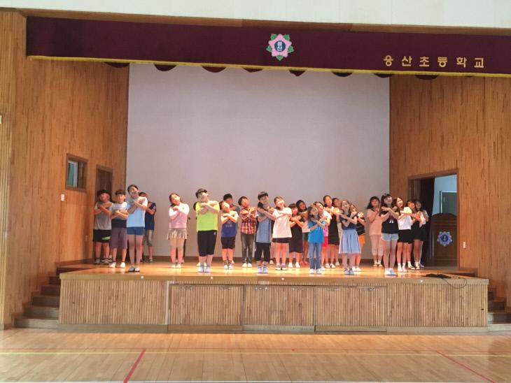 소방동요대회연습사진-웅산초등학교