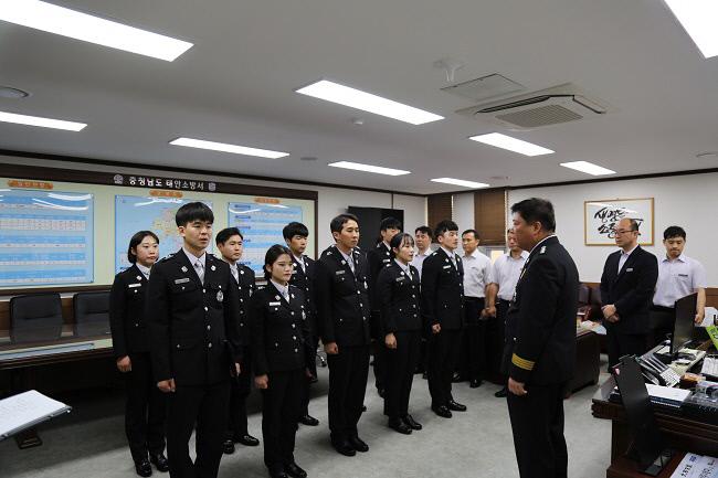 20180711 태안소방서, 신규 소방공무원 임용장 수여! (2)