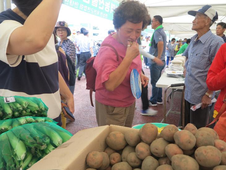 사진 2-3(지난해 옥수수 감자 축제)