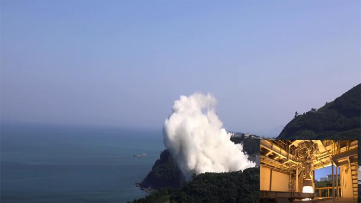 한국형발사체 75톤급 액체엔진 260초 연소시험 영상