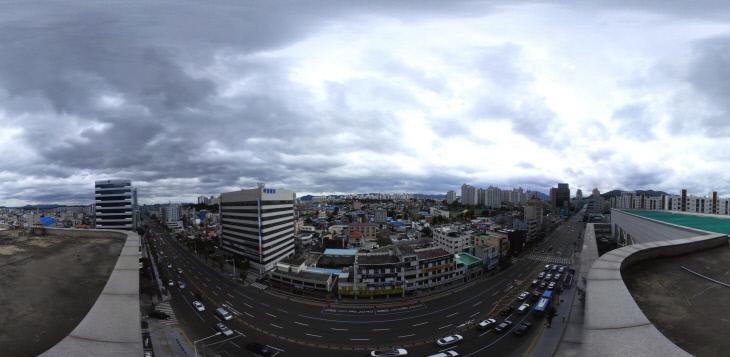폭풍전야, 먹구름 짙게 내려 앉은 대전 하늘