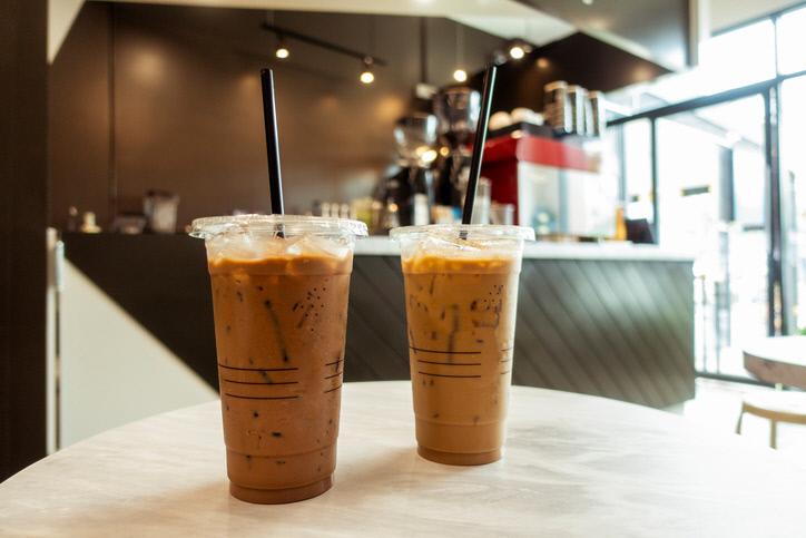 ice coffee in coffee shop