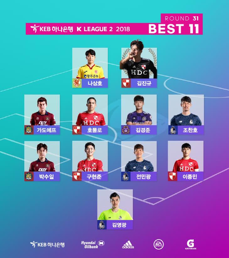 K리그2_31R_BEST11