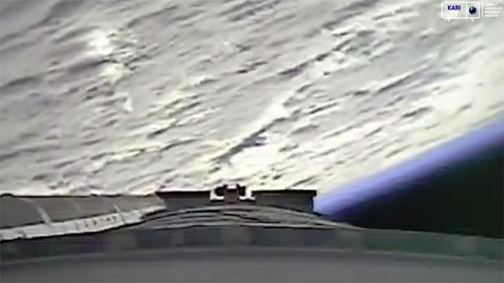 시험발사체가 촬영한 아름다운 푸른빛 지구