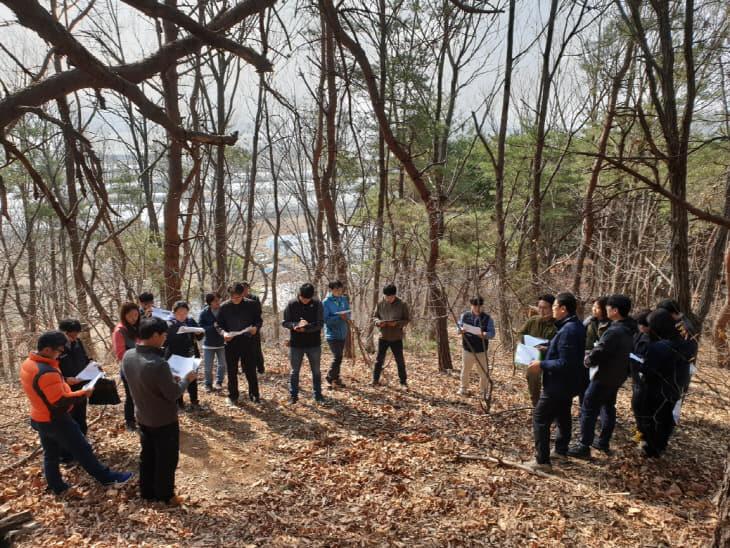 사진1. 미세먼지 저감을 위한 숲가꾸기 현장 토론회