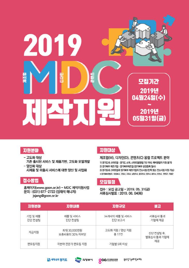 2.2019 MDC 제작지원사업 포스터(최종)
