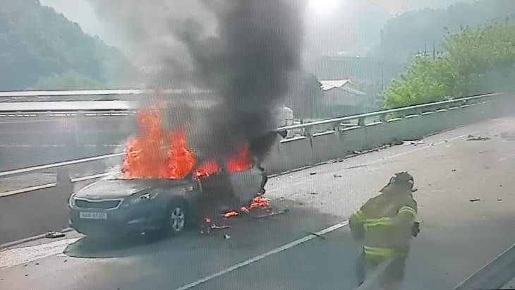 차량화재 사진