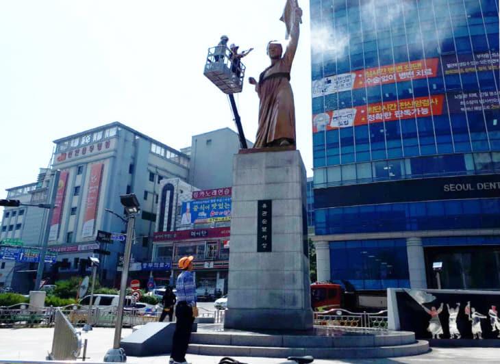 사적관리과(유관순 열사 동상 세척) (5)