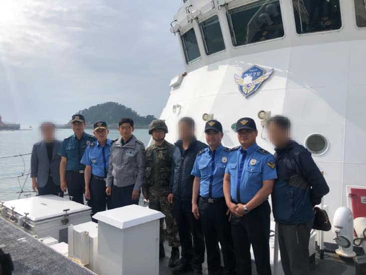 군경합동 합동 도서수색 지원에 나선 태안해양경찰 313함