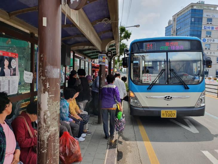 서천, 75세 이상 노인 농어촌버스 무료이용 교통카드 지원