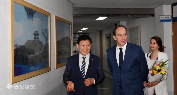 20190612-프랑스 대사 중구청 방문1