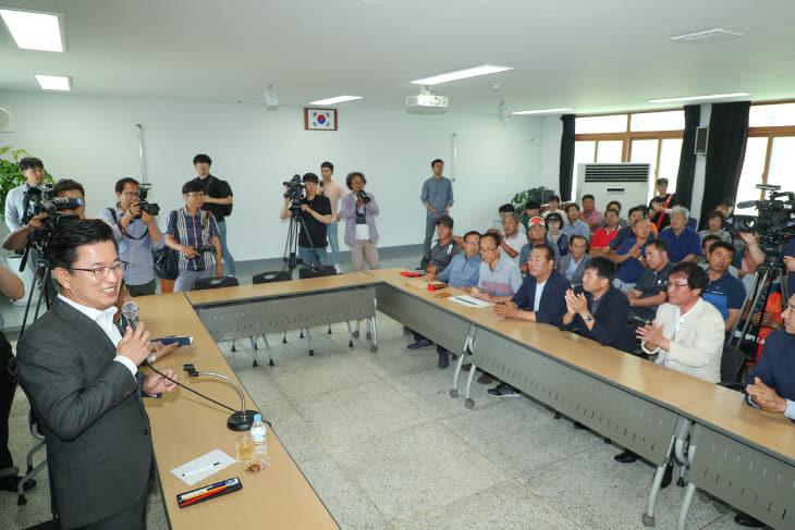 대전시, LNG발전소 건설계획 '중단'_기성동 주민 간담회 (1)