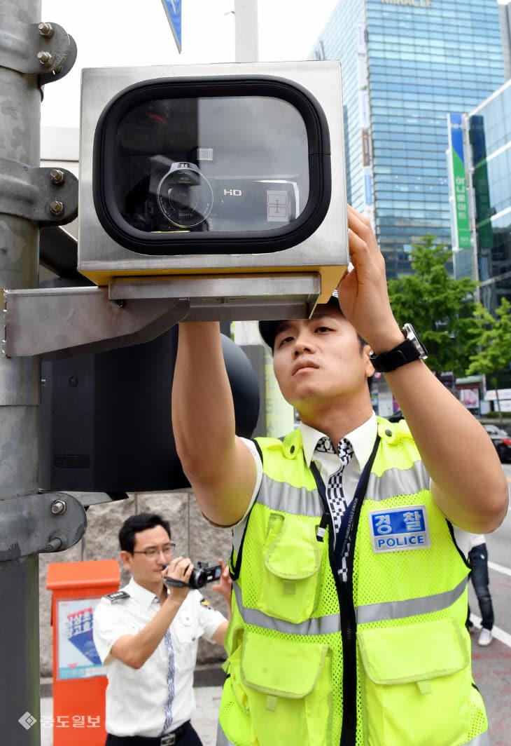 20190718-꼬리물기 단속 무인카메라 설치