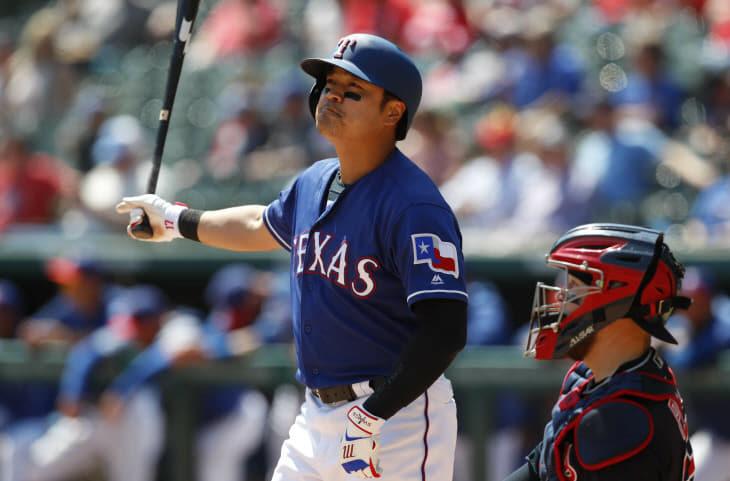 Indians Rangers Baseball <YONHAP NO-2993> (AP)
