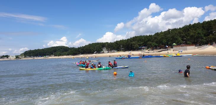 1.용두해변 해양레저체험교실 운영 장면