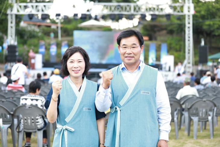 조용훈 논산시의원과 김배자 강경읍장