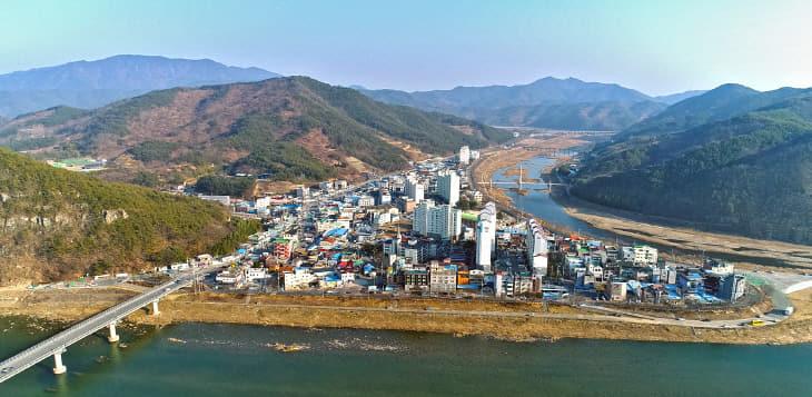 2019년 산청군 신안면 전경 항공촬영 1