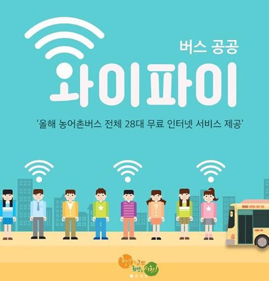 서천, 시내버스 무료 와이파이 서비스 개시