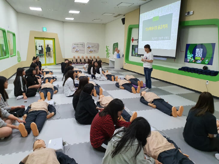 서산여고 - 학생안전체험관 안전체험교육 사진 2