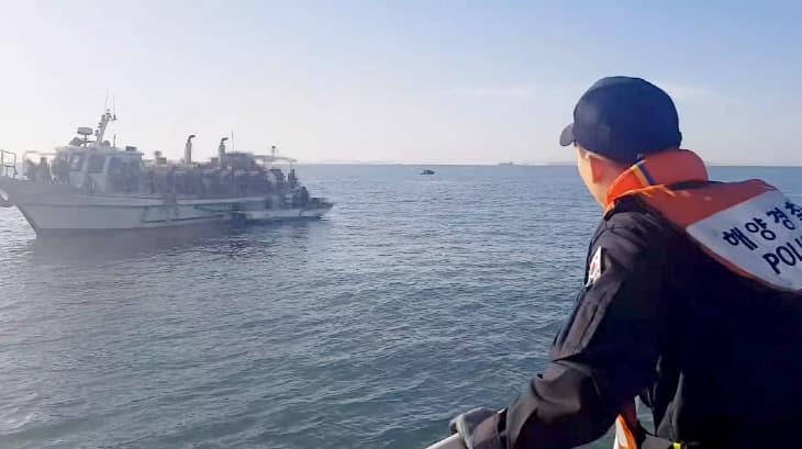 인천시 옹진군 영흥도 인근해상에서 유선과 레저보트가 충돌하