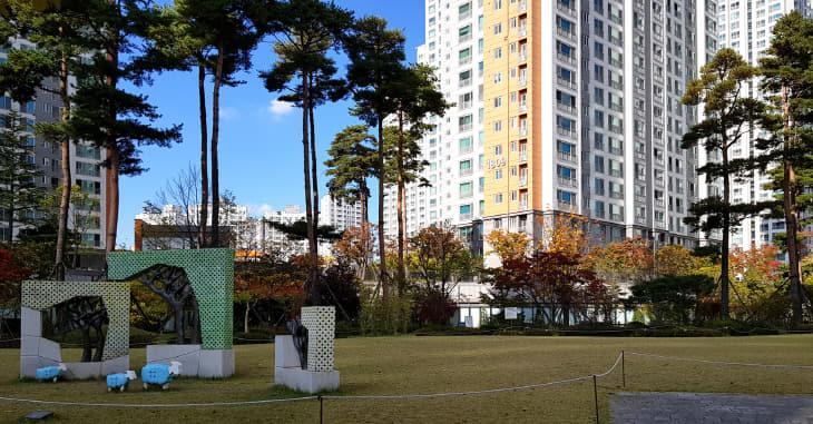 도안18-우미린-단지중앙잔디밭조경