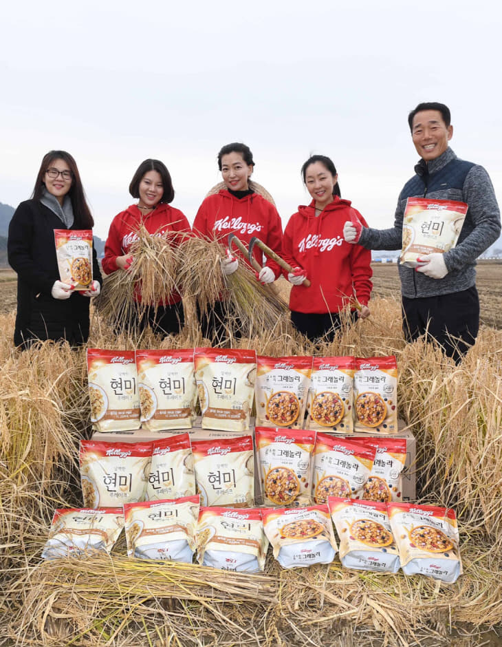 농심켈로그, 서천 쌀생산 농가와 상생의 장 마련