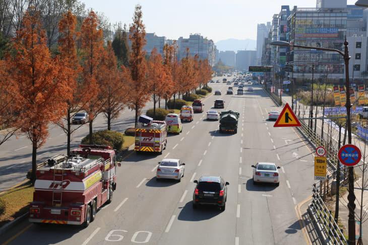 천안서북소방서, 소방차 퍼레이드 및 화재예방 캠페인 실시