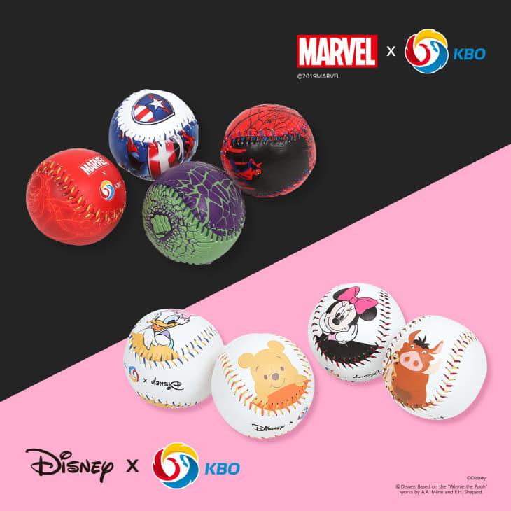 KBO X 디즈니&마블 컬래버 기념구 이미지