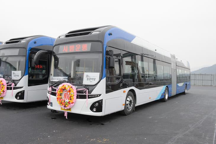 2020.1.22 첨단BRT 전기굴절버스 개통식 (4)