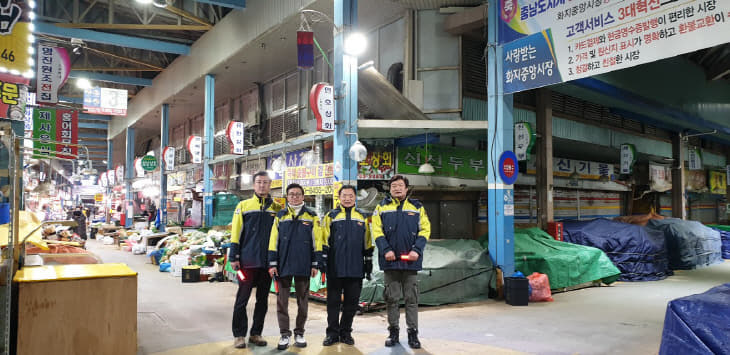 (0122)논산소방서, 의용소방대 화재취약지역 야간순찰 실시