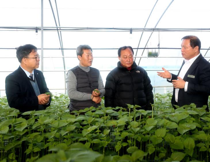 김부성 충남농업기술원장 금산 방문