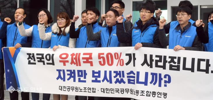 20200212-우체국 폐업 반대 기자회견