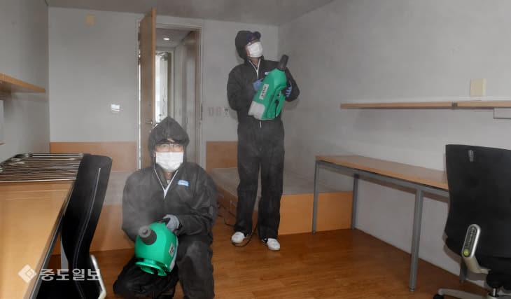 20200217-중국 유학생 기숙사 방역1