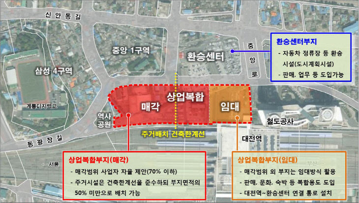 대전역세권 개발계획