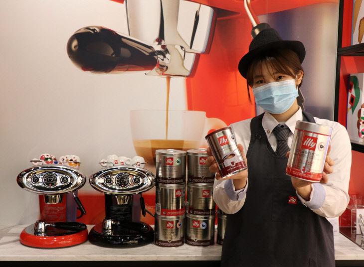 롯데백화점 대전점, 1층 커피 용품 제안 일리커피-1
