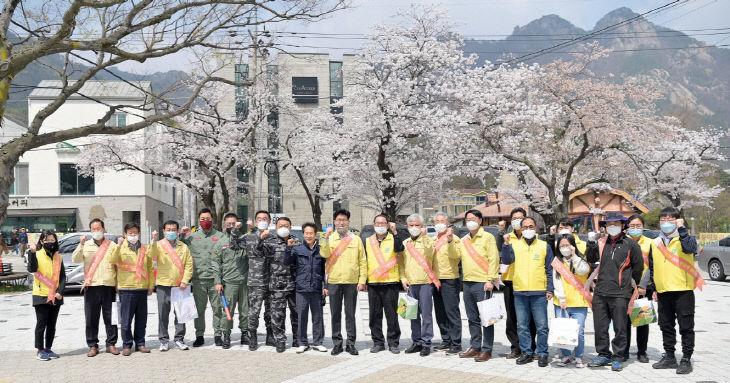 계룡산 동학사 코로나19 방역태세 점검 사진  (1)