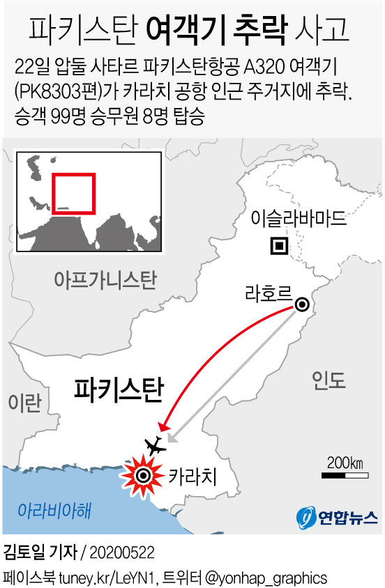 파키스탄 여객기 추락 사고