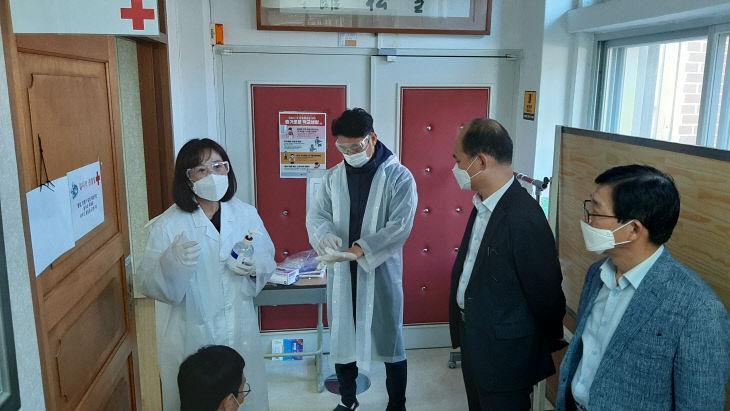 음암중학교, 코로나19 감염병 대응 모의훈련 실시-2