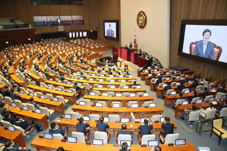 박병석 의원, '국회의장 선출 소감은'<YONHAP NO-2969>