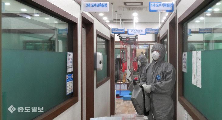 대전 61, 62번 확진자 다녀간 병원 방역…병원은 폐쇄