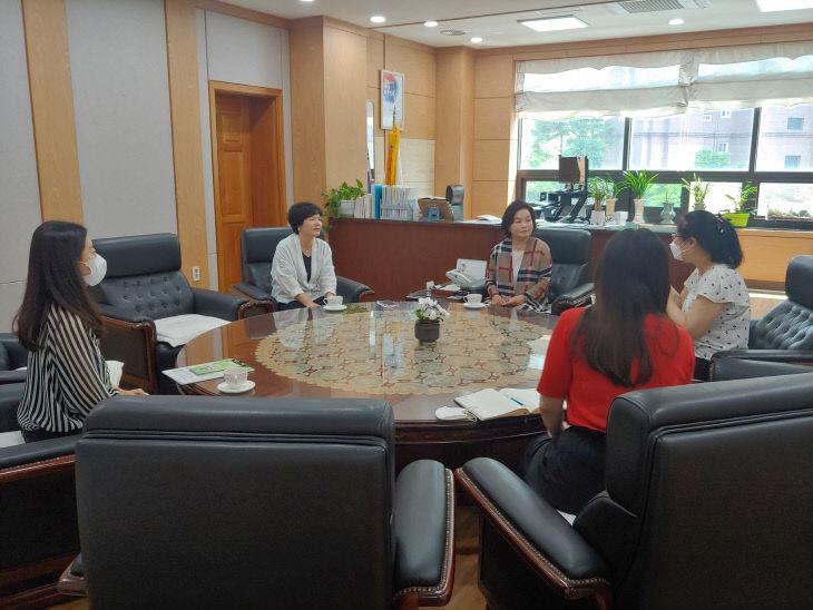 건강관리과(자살예방센터 천안교육지원청(6.4.) 간담회)