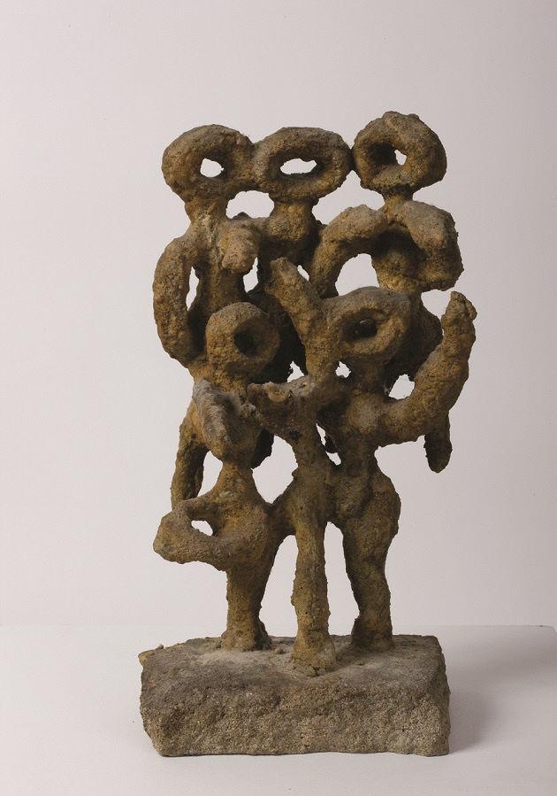 이응노, 군상, 1967, 청동, 32x16x12.5cm
