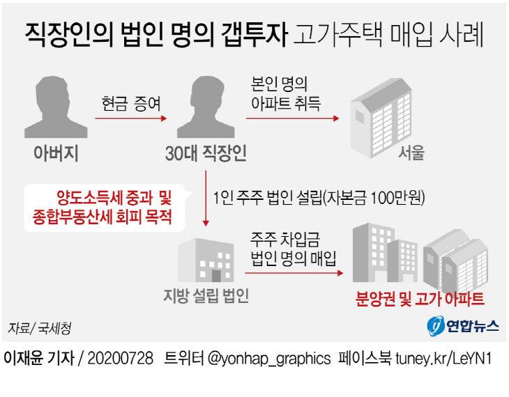직장인의 법인 명의 갭투자 고가주택 매입 사례