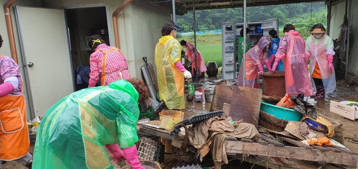 진천군여성단체협의회 호우 피해농가 봉사활동 사진